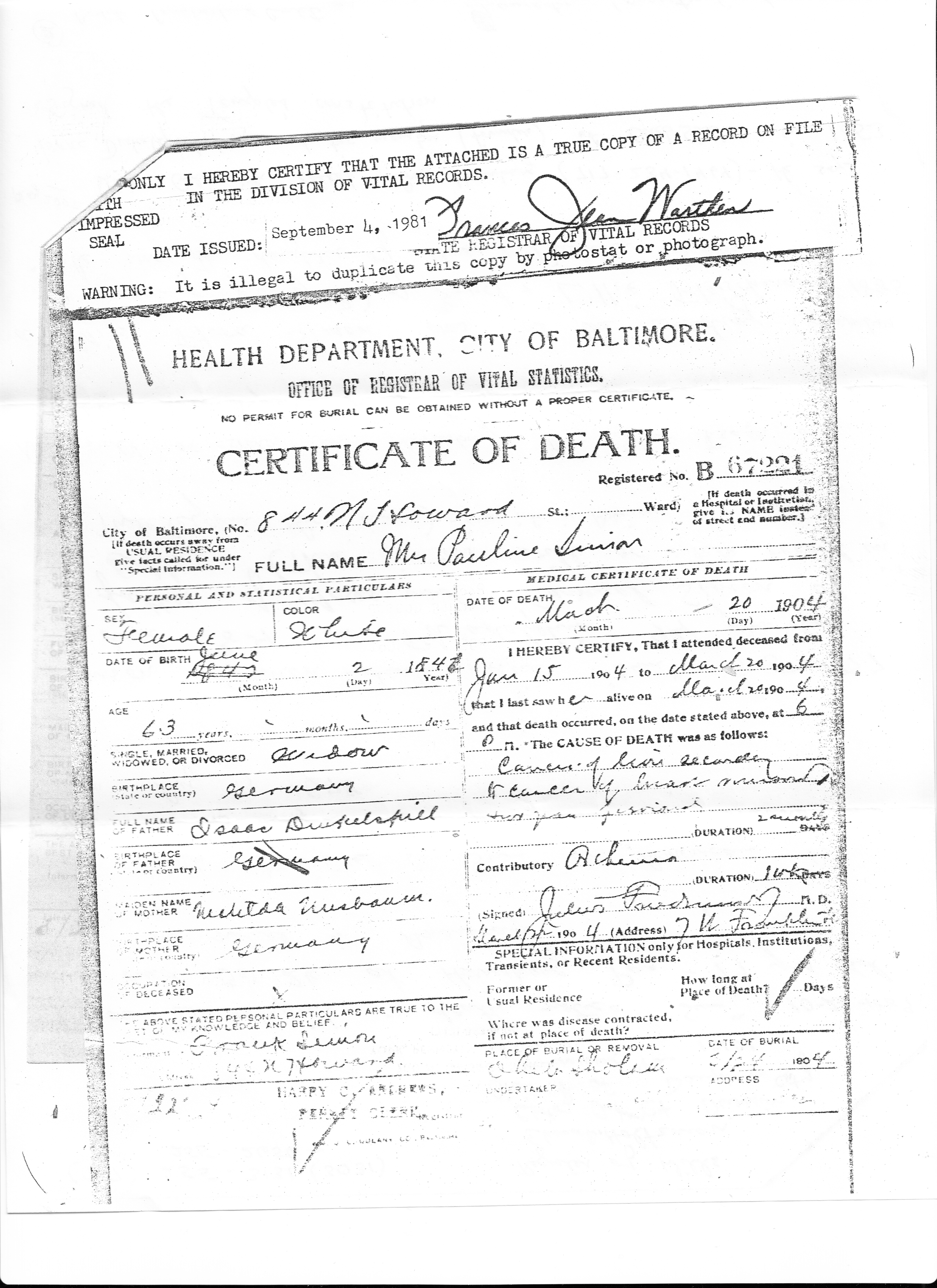 Dinkelspiel brotmanblog a family journey paulina dinkelspiel simon death certificate 1betcityfo Images