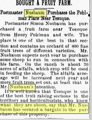 Santa Fe New Mexican, September 28, 1899, p. 4