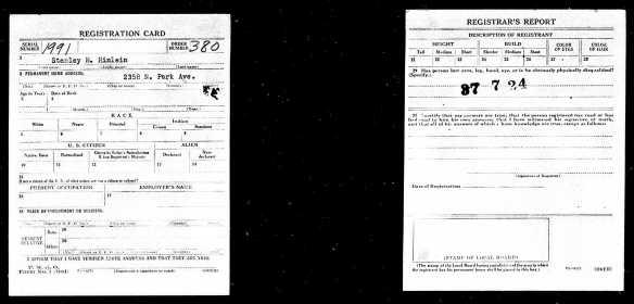 Registration State: Pennsylvania; Registration County: Philadelphia; Roll: 1907759; Draft Board: 36