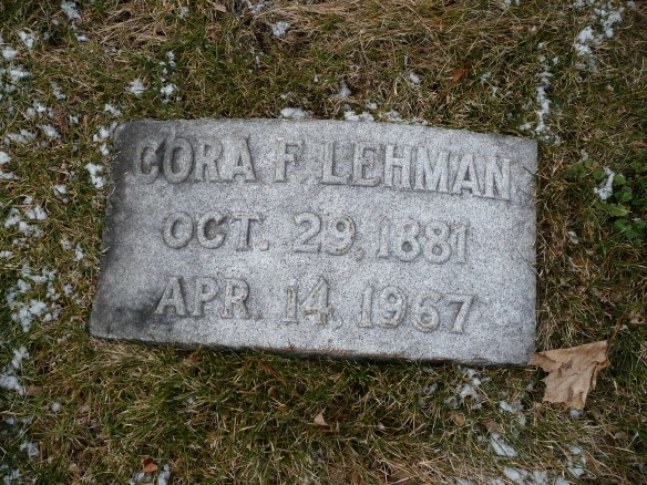 Cora Frank Lehman headstone