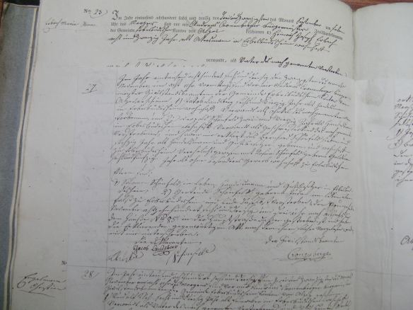 Death record of Bernard Schoenfeld 1836