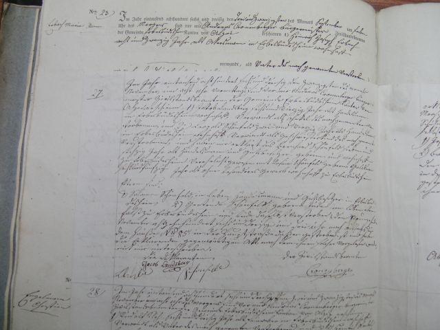 Death record of Bernard Schoenfeld 1836