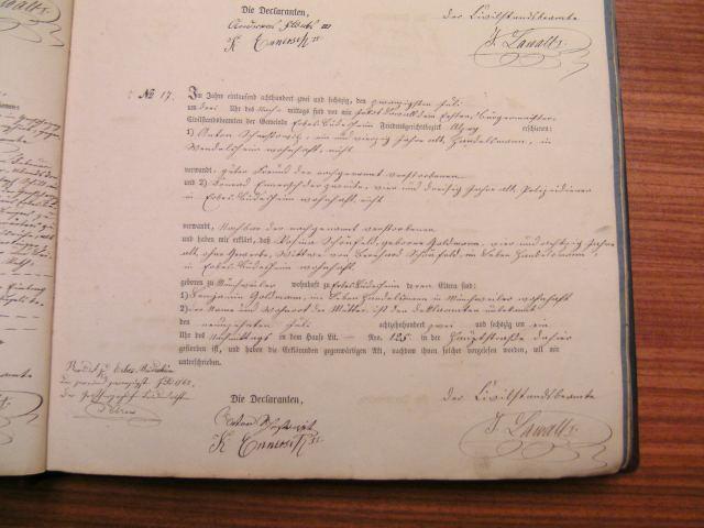 Death record of Rosina Goldmann Schoenfeld 1862