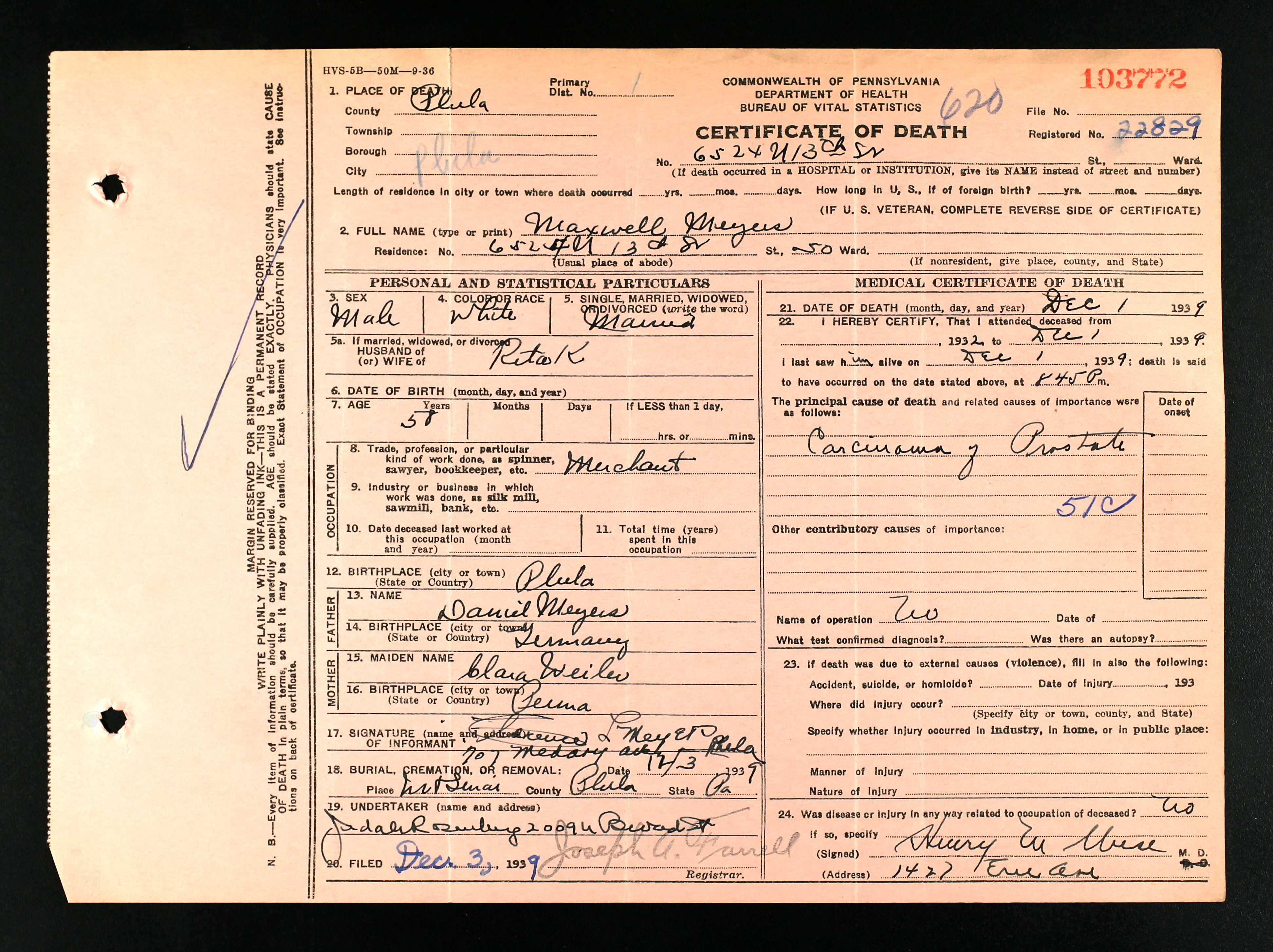Optometry brotmanblog a family journey pennsylvania death certificates 1906 1963 database on aiddatafo Image collections