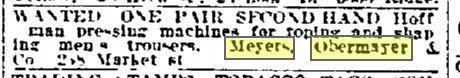 Philadelphia Inquirer  January 31, 1915 p. 11