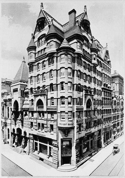 Provident Building, 401-09 Chestnut Street, Philadelphia, PA (1888-90, demolished 1945) in 1910. Library of Congress, Prints & Photographs Division, PA,51-PHILA,256A-1