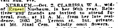 Philadelphia Inquirer October 5, 1919 p 18