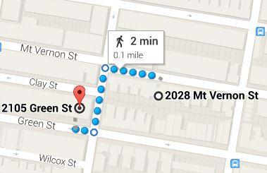 https://www.google.com/maps/dir/2028+Mt+Vernon+St,+Philadelphia,+PA+19130/2105+Green+St,+Philadelphia,+PA+19130/@39.965565,-75.1745338,17z/data=!3m1!4b1!4m13!4m12!1m5!1m1!1s0x89c6c7cea9564185:0xd48c5dae6e2b3858!2m2!1d-75.171677!2d39.965609!1m5!1m1!1s0x89c6c7c957ff38e1:0xf1de557b33a28e8a!2m2!1d-75.172772!2d39.965479
