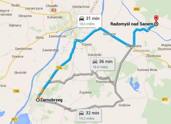 https://www.google.com/maps/dir/Radomy%C5%9Bl+nad+Sanem,+Poland/Tarnobrzeg,+Poland/@50.6192387,21.705365,11z/data=!3m1!4b1!4m13!4m12!1m5!1m1!1s0x4722cc10211176a5:0x42126b9a45e07902!2m2!1d21.9449344!2d50.6810623!1m5!1m1!1s0x473d4a0dd8824db1:0xc70875667fbbaaf3!2m2!1d21.6790698!2d50.5729079