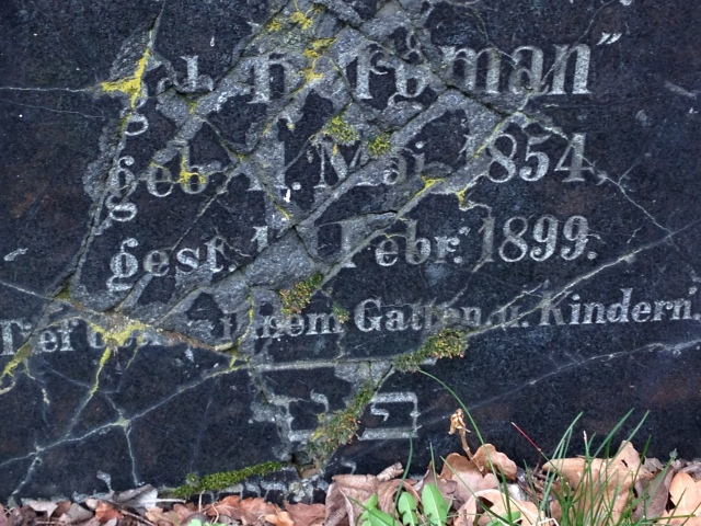 another of Rosa Seligmann's headstone