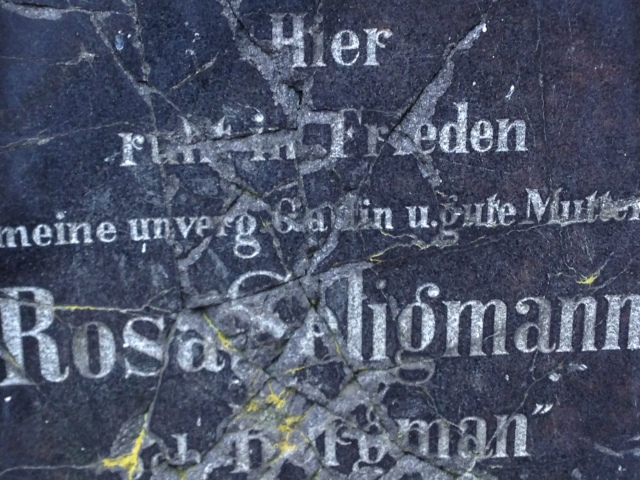closeup of Rosa Seligmann headstone