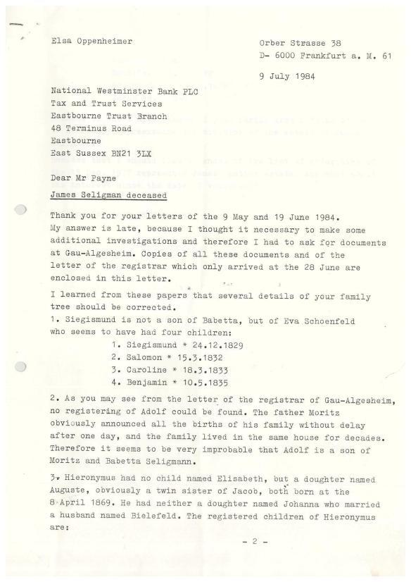 Elsa Oppenheimer 1984 letter-page-001