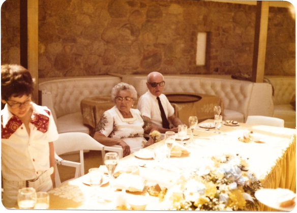 Richard with his grandparents at his bar mitzvah