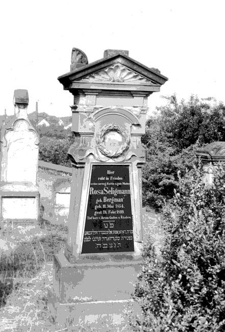 Rosa Seligmann headstone 1950