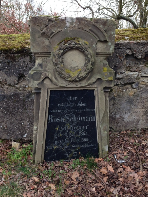 Rosa Seligmann headstone