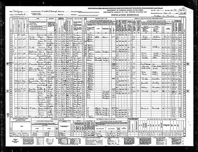 Lewis Brotman 1940 US census Year: 1940; Census Place: Vineland, Cumberland, New Jersey; Roll: T627_2327; Page: 10B; Enumeration District: 6-76