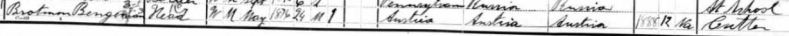 Bengeman Brotman 1900 US census