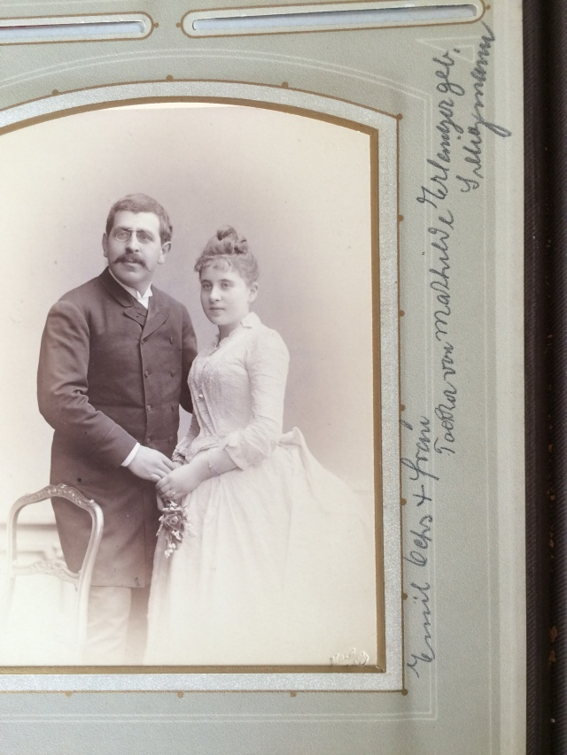 Emil Ochs and wife, daughter of Mathilde Erlanger geb Seligmann