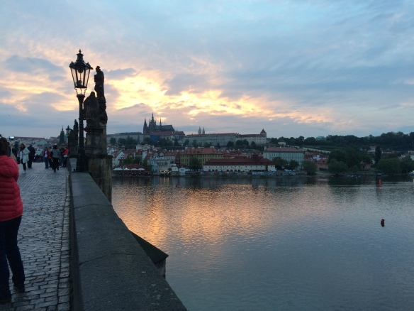Sunset at the Charles Bridge, Prague