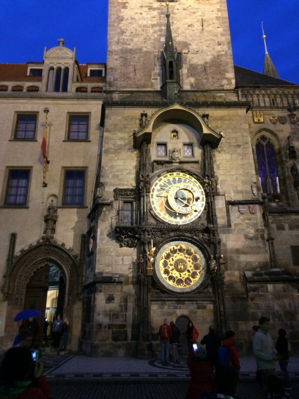 IMG_2468 Clock in Old Town at night Prague