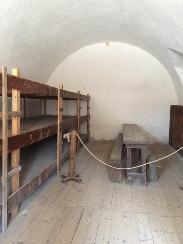 Jewish prisoners' cell, Terezin