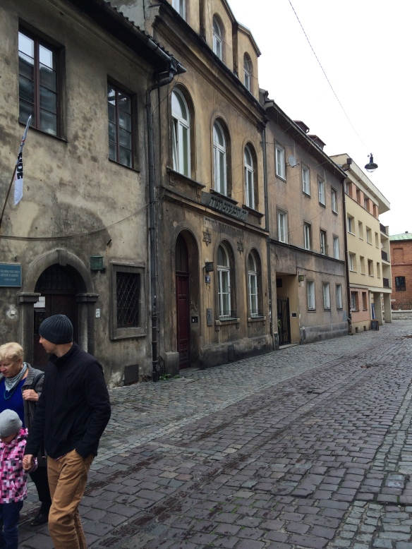A street in the former Jewish Quarter of Krakow