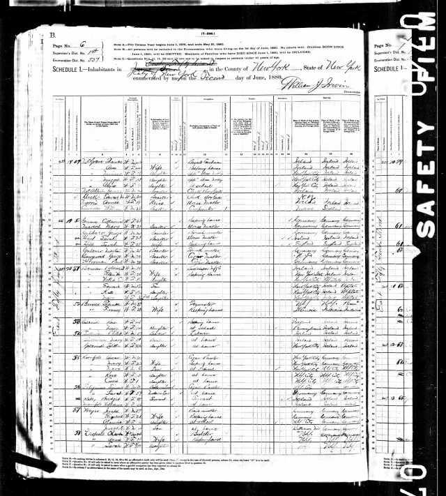 Mary and Oscar Kornfeld 1880 census