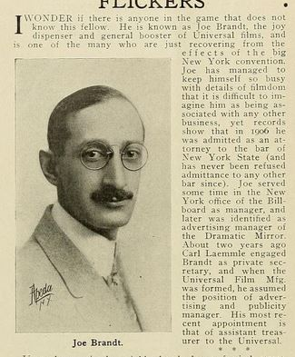 Moving Picture World July-September 1913, p. 728  http://archive.org/stream/movingpicturewor17newy#page/727/mode/1up