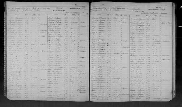 Mary Seligmann and Oscar Kornfeld 1892 NY census