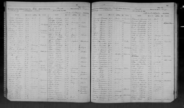 Mary Seligmann and Oscar Kornfeld 1892 NY census