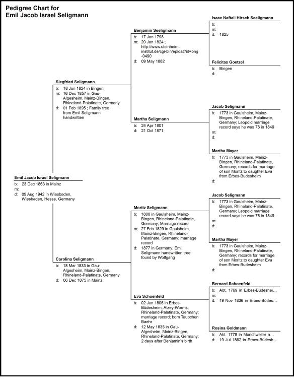 Pedigree Chart for Emil Seligmann