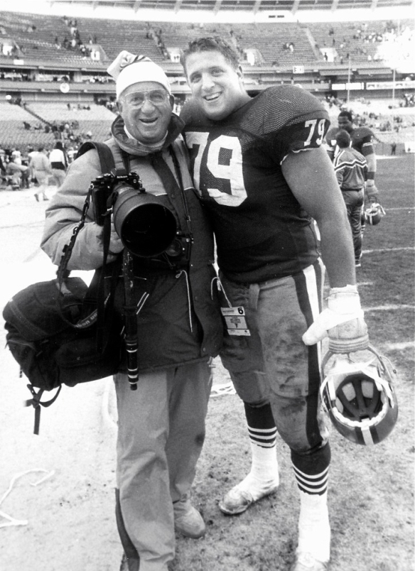 Bob Cohn and Harris Barton after the NFC Championship game in Chicago