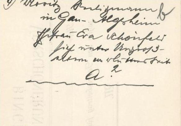 Handwritten notes about Moritz 1