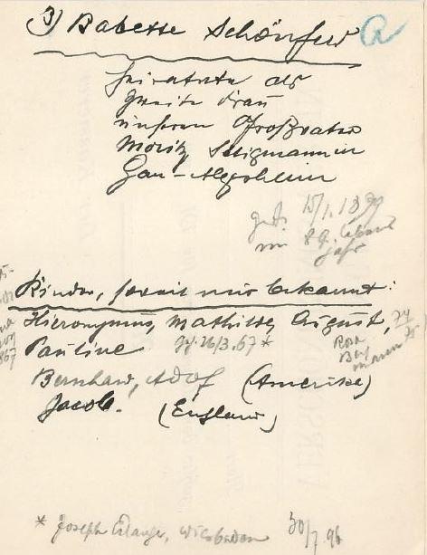 Handwritten notes about Moritz 3