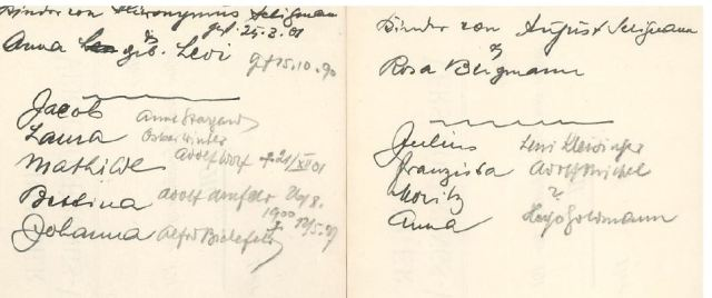 Handwritten notes about Moritz 5 and 6