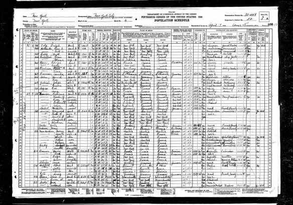 Harold Cohn 1930 census