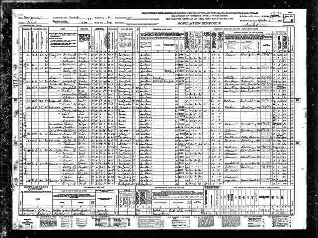 Full page: Joseph Cohn 1930 census