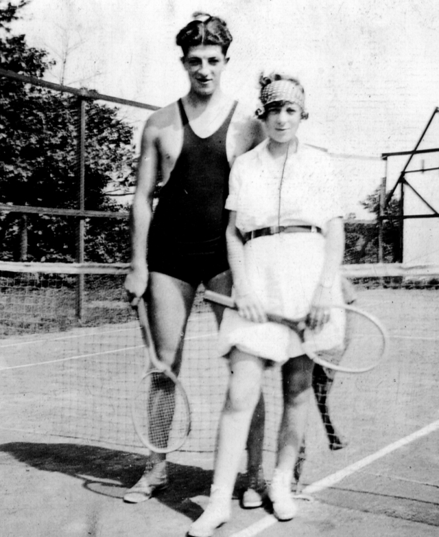 Mom and Dad at tennis
