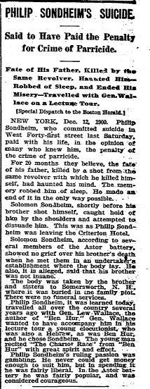 Sondheim suicide from Herald