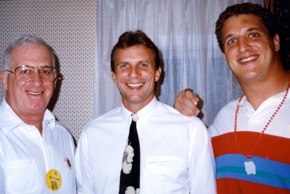 Bob Cohn with Joe Montana and Harris Barton Photo courtesy of Bob Cohn