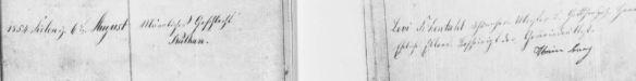 Nathan Schoenthal birth record August 6, 1854