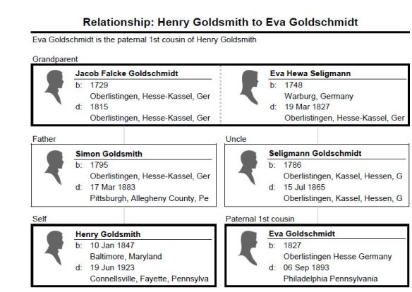 Relationship_ Henry Goldsmith to Eva Goldschmidt