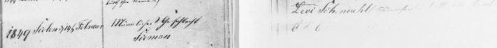 Simon (Sieman) Schoenthal birth record February 14, 1849