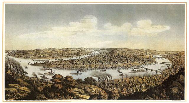 Pittsburgh 1874 By Otto Krebs [Public domain], via Wikimedia Commons