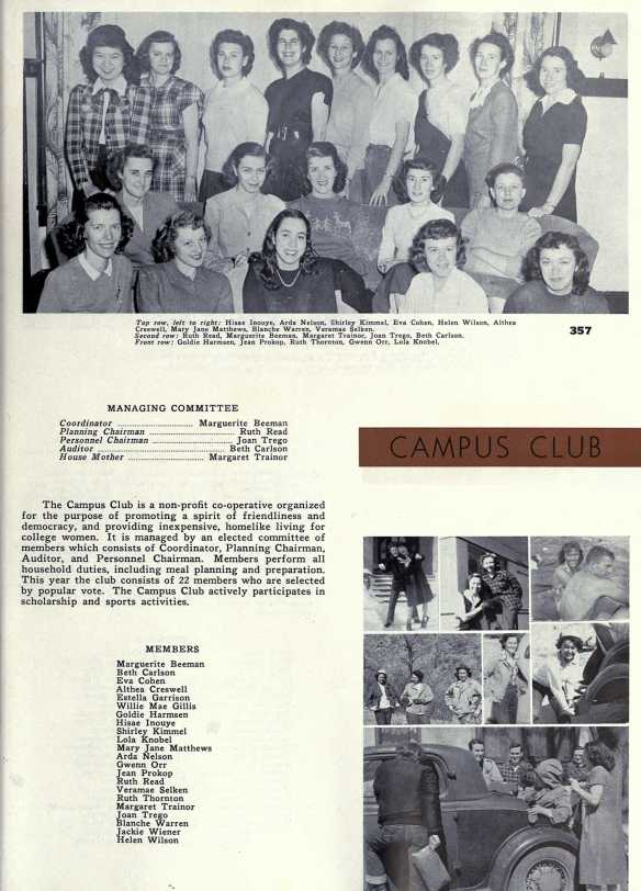 Aunt Eva college yearbook