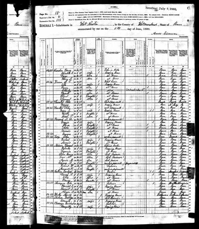 Felix Schoenthal 1880 US census Year: 1880; Census Place: West Newton, Westmoreland, Pennsylvania; Roll: 1204; Family History Film: 1255204; Page: 8C; Enumeration District: 109