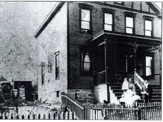 """House of Nathan Samuels in Washiington PA where Beth Israel congregants first met Photo courtesy of Marily Posner from her book, """"The House of Israel, A Home in Washington: 100 Years of Beth Israel Congregation, 1891-1991 / 5652-5752"""