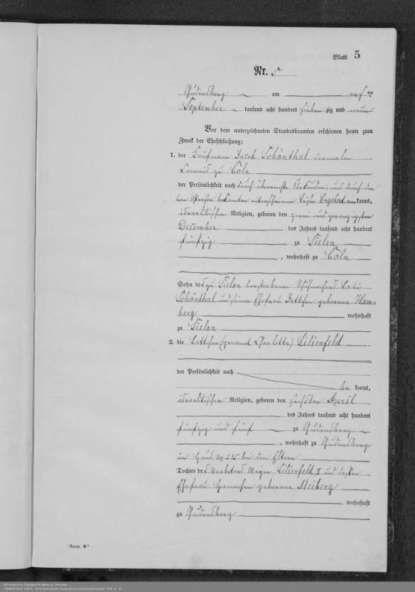 HStAMR Best. 920 Nr. 2610 Standesamt Gudensberg Heiratsnebenregister 1879, S. 10