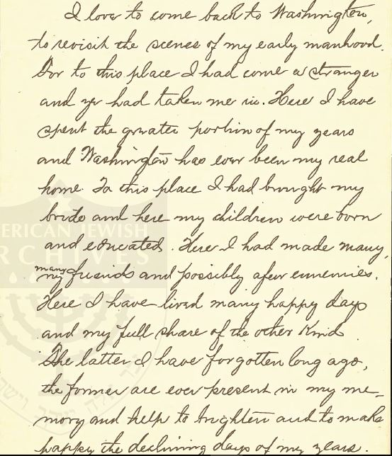 Henry Schoenthal 1912 Sermon p 1