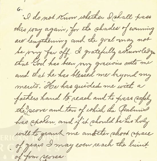 Henry Schoenthal 1912 sermon p 2